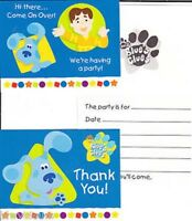 Blue's Clues Shapes Theme 8 Pack Of Invites And Thanks