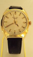 VINTAGE MEN'S POLJOT RARE WATCH GOLD PLATED RUSSIAN/USSR BEAUTIFUL DIAL # 56