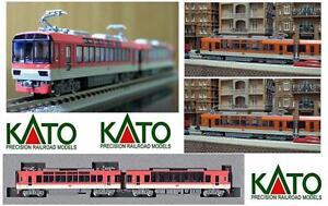 KATO-10-411-LITTORINA-ELETTRICA-KIRARA-LIVREA-ROSSA-JR-Sr-900-2-CARS-OVP-SCALA-N