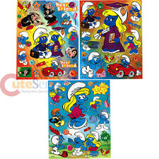 The Smurfs Stickers Set 3 Sheets Removable Wall Window Vinyl Stickers Smurfette