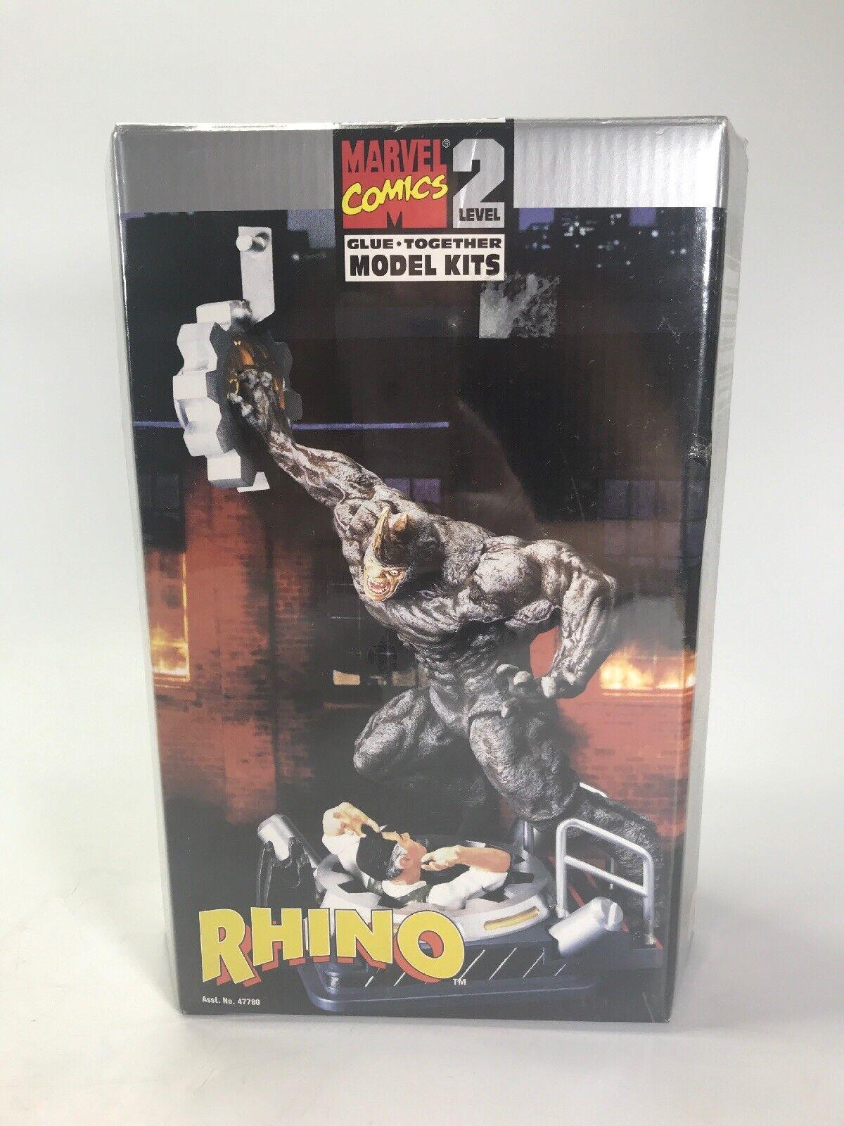 Marvel Comics Spiderman Rhino Model Kit Level 2 Glue Together 1999 Toy Biz
