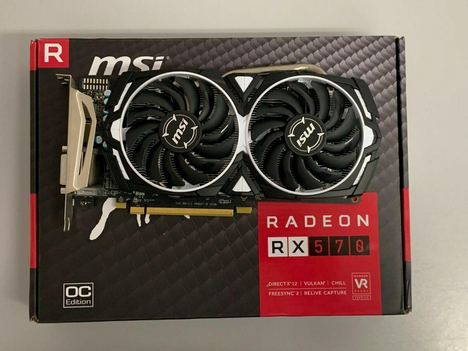 MSI AMD Radeon RX 570 Armor 8 Go GDDR 5 8GO OC (Vendu Hors Service)