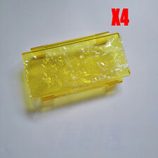 """4x 6"""" INCH Yellow Lens Cover for 7"""" 36W 12"""" 72W 24"""" 30"""" 42"""" 50"""" Led Light Bar"""