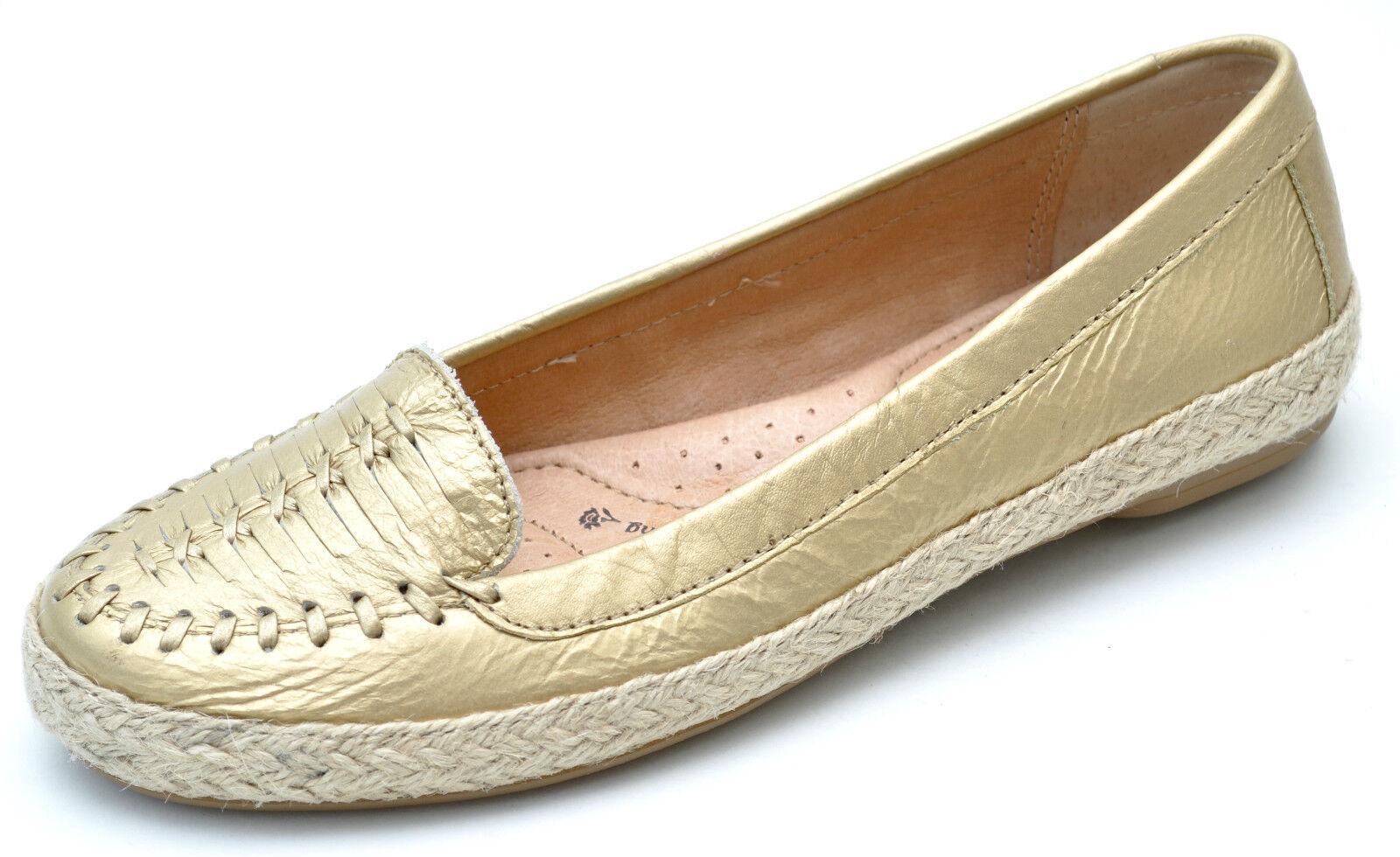 Sofft Mapúrpura oro Luxor Luxor Luxor Cuero Zapatos chatos Slip-Ons para Mujer Nuevo 9.5 - 1078995  punto de venta de la marca