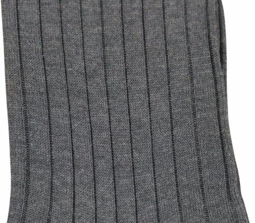 BRESCIANI Coton Côtelé Homme Chaussettes-Gris Luxe Bnwt Gris SZ M//UK 7-8