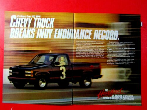 Benny Parson Vogler-Butler Endurance Record Chevrolet Original Print Ad 2 page