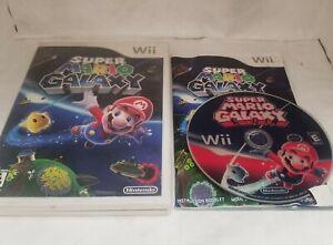 CIB Super Mario Galaxy (Nintendo Wii, 2007) COMPLETE IN BOX