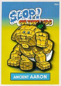 GPK-World-Barren-AARON-Mascot-Enamel-Pin-Cards-Sticker-Set-Garbage-Pail-Kids
