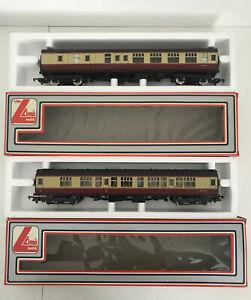Lima-Models-305311-amp-305331-Corridor-Railway-M34628-amp-M34376-Cream-Maroon