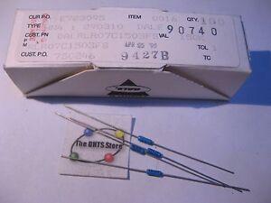 Box-of-100-Dale-Vishay-HN4-Resistor-Metal-Film-150000-Ohm-150K-RLR07C1503FS-NOS