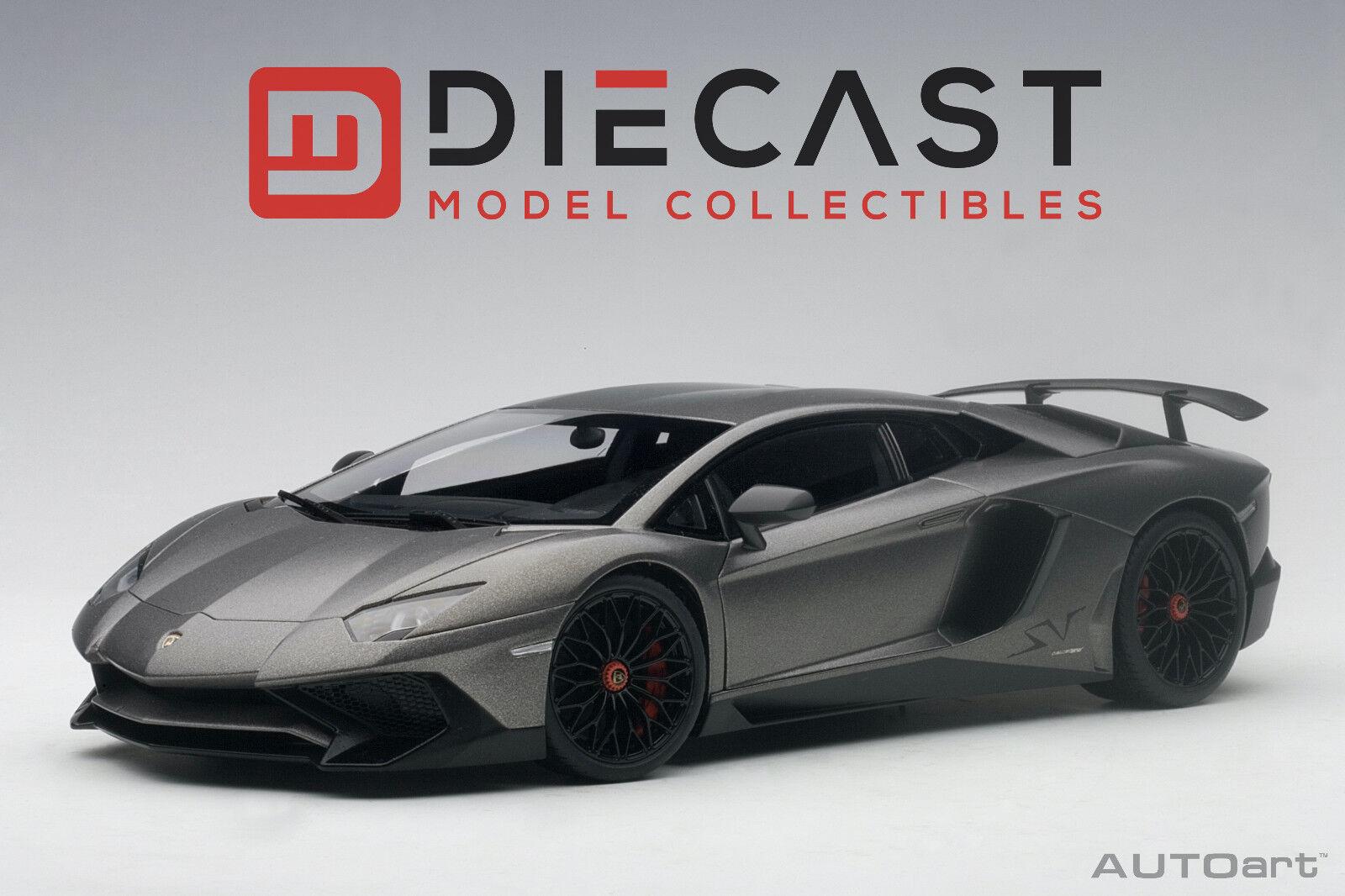 Autoart 74554 Lamborghini Aventador LP750-4 SV (GRIGIO Titanes grigio Mate) 1 18TH