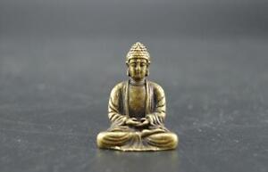Chinese-pure-brass-Sakyamuni-Buddha-small-statue-2