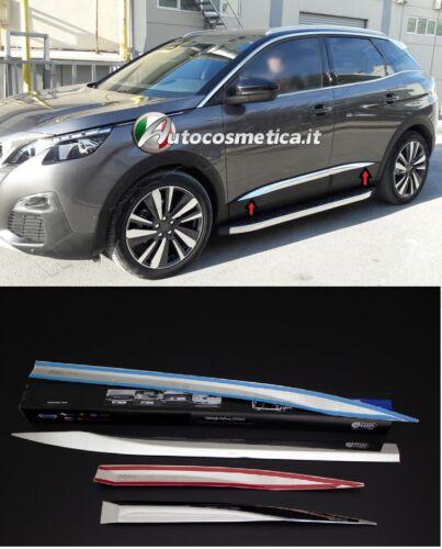 modanature profili in acciaio cromo stampate 4 porte per Peugeot 3008 2017/>