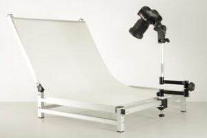 Aufnahmetisch Fototisch Profi Plus Mit Gelenkstativ Für Kameras 1112 Fotostudio-zubehör