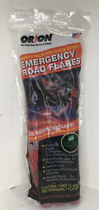 Orion Safety Products 3153-08 3-15 Minute Road Flares WITH 3 Flares SEALED (B)