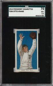 Rare 1909-11 T206 Otto Knabe Piedmont 350 Phila SGC 70 / 5.5 EX +
