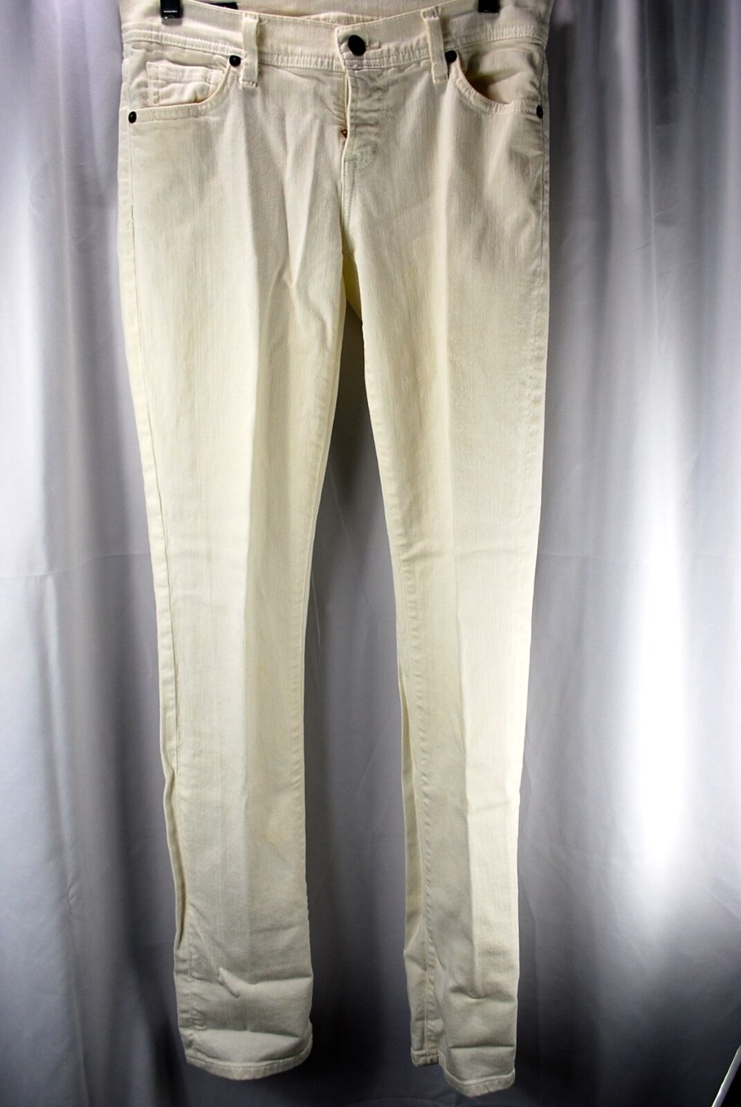Citizens of Humanity White Skinny Jeans Low Waist Straight Leg Women Size 26
