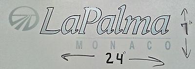 MONARCH MONACO RV MOTORHOME CAMPER LOGO DECAL LEGEND GOLD PEWTER 23X6 GRAPHIC