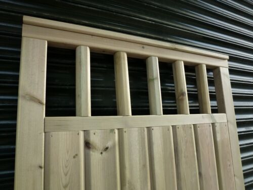 up to 4ft wide x 6ft high Barrel Board Gate with Spindle detailing