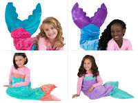 Girl's Pink Purple Blue Plush Mermaid Tails/throw /blanket Soft Comfy Durable