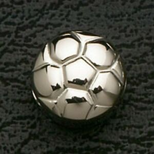 Soccer-Ball-Stainless-Steel-Metal-Loose-Bead-Charm-Fit-European-Bracelets-Silver