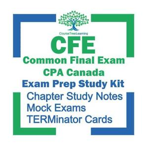 CFE Common Final Exam CPA Canada Chartered Professional Accountant Course Exam Prep 2020 Study Package Ontario Preview
