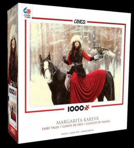 CEACO FAIRY TALES PUZZLE SNOWY OWL MARGARITA KAREVA 1000 PCS #3376-1