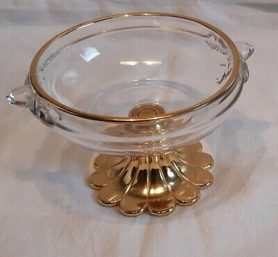 Petitfourplatte auf Fu/ß 102 mm hoch Glas Schale Glasschale Servierplatte