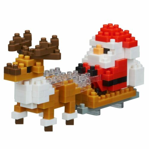 NANOBLOCK Santa with Reindeer Nano Block Micro-Sized Building Blocks NBC-234
