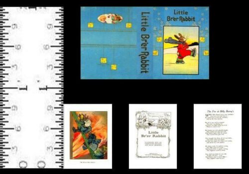 1:12 SCALE MINIATURE BOOK LITTLE BRER RABBIT DOLLHOUSE SCALE