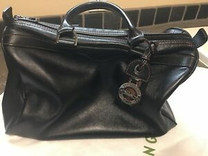 Details About Longchamp Au Sultan Black Leather Satchel