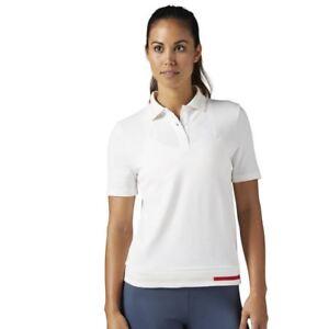 fe1ecf4fa926 Womens Reebok Classics Pique Polo Top - White Size Small New With ...