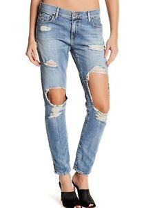 codice promozionale 1b6b3 40c08 Dettagli su Nuova con Etichetta True Religion Sz28 Cameron Ragazzo  Strappato Slim Jeans