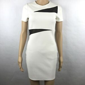 Express Womens Sheath Dress Knit White Black