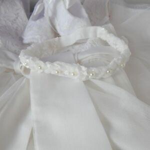 Baby diadema per Matrimonio, Battesimo Avorio Perla, Intrecciato Cerchietto UK realizzato a mano  </span>