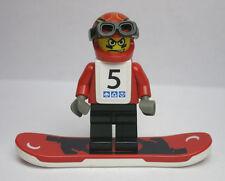 Snowboarder #5 Gravity Game Red Black Snowboard 3585 Lego Minifigure Mini Figure