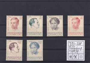 Lussemburgo 1939 Caritas ratdr carta spessa Michel 333 - 338
