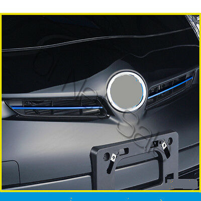 SUS304 Stainless Blue Steel Upper Grill Trim Cover For Toyota Prius ZVW30 New