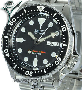 SEIKO-200Mt-AUTO-SCUBA-PRO-DIVERS-With-STAINLESS-STEEL-BRACELET-SKX007J2