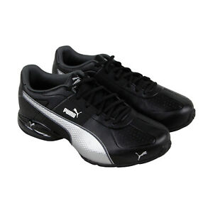 Puma-Cell-Surin-2-Fm-Mens-Black-Leather-Athletic-Lace-Up-Running-Shoes