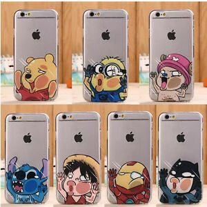 Housse-Etui-Pour-telephone-Apple-Cas-Disney-Cartoon-Modele-Souple-TPU-Phone-Case