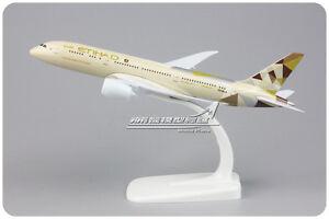 1:300 Reg Boeing B787 Etihad Airways Model Metal Plane Aircraft Toy Airplane