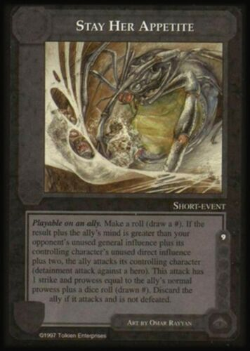 MECCG CCG Middle-earth Stay Her Appetite The Lidless Eye LE MINT