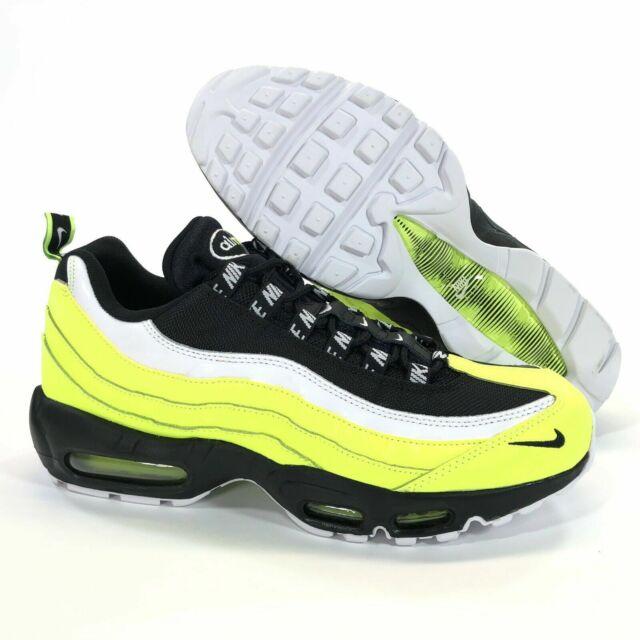 Nike Air Max 95 Premium Volt Glow Black Running Shoes 538416 701 Men's Size 10