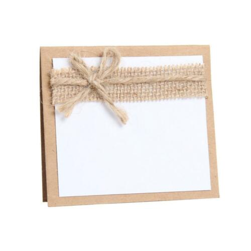 20 x Burlap Table Place Card Meassage Table Name Cards Wedding Decoration