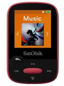 SanDisk-Clip-Sport-8GB-MP3-Player-Pink-With-LCD-Screen-and-MicroSDHC-Card-Slot