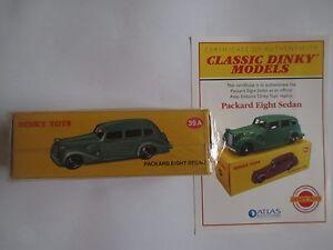 Packard-Eight-Sedan-39-A-Classic-Dinky-modele-par-Atlas-Neuf-Scelle-Certificat