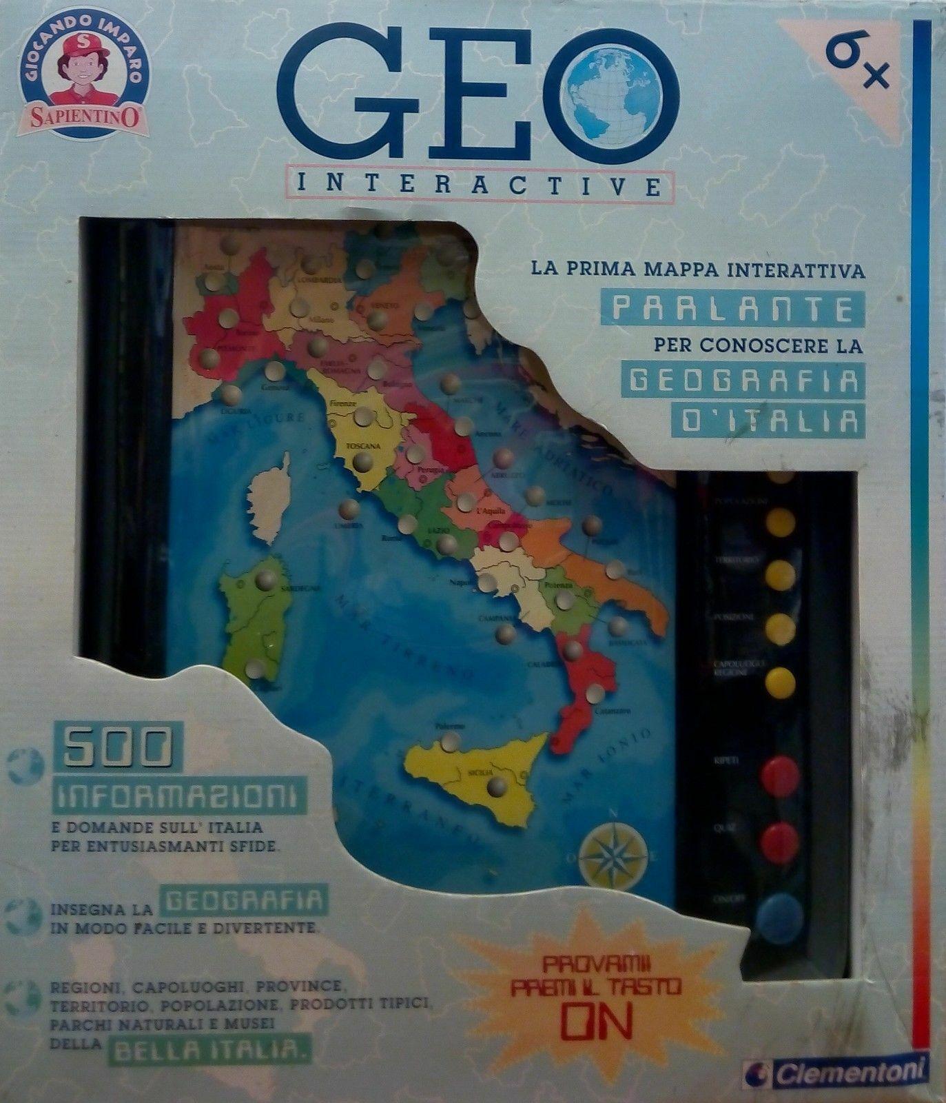 CLEMENTONI - GEO INTERACTIVE - 6+
