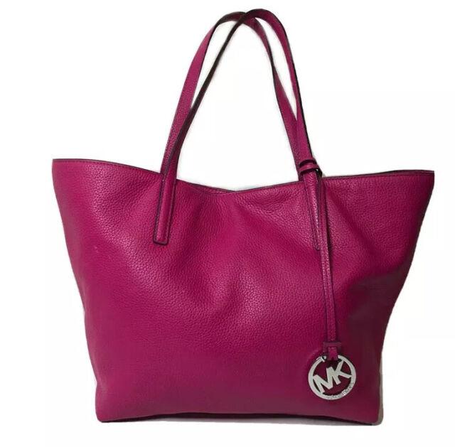 Michael Kor's Hayley 30F6SZYT3L Fushia Leather Tote Shoulder Purse Bag