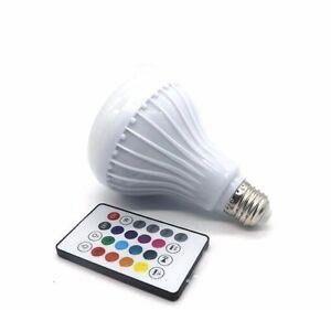 Ampoule Led Musicale Sans Fil Bluetooth 6w Bulb E27 Audio Haut-parleur Couleurs